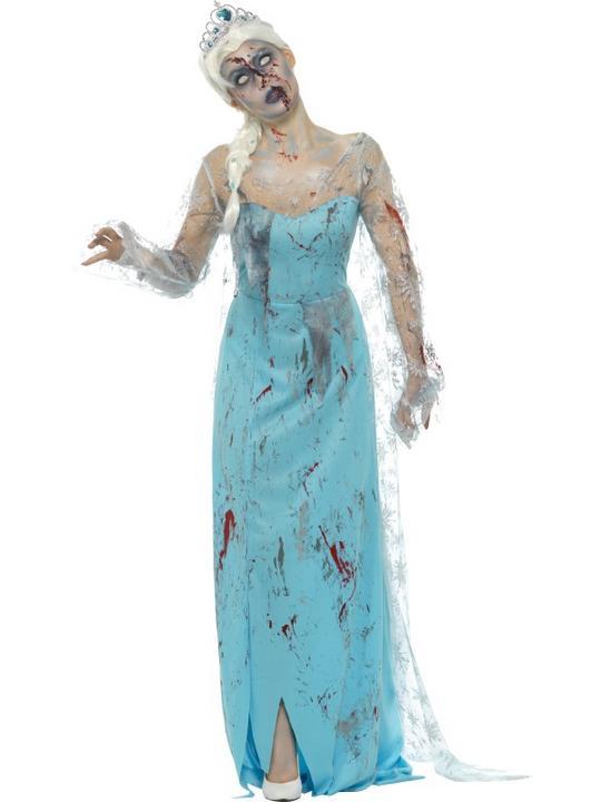 Zombie Froze to Death Women's Fancy Dress Costume Thumbnail 1