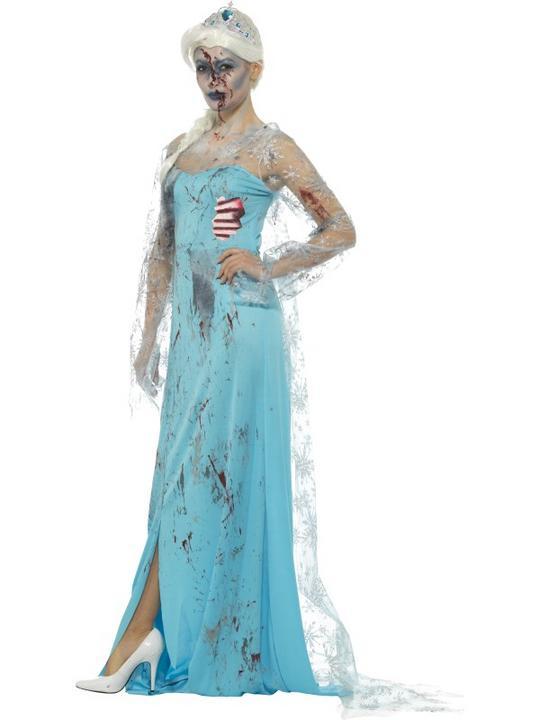 Zombie Froze to Death Women's Fancy Dress Costume Thumbnail 2
