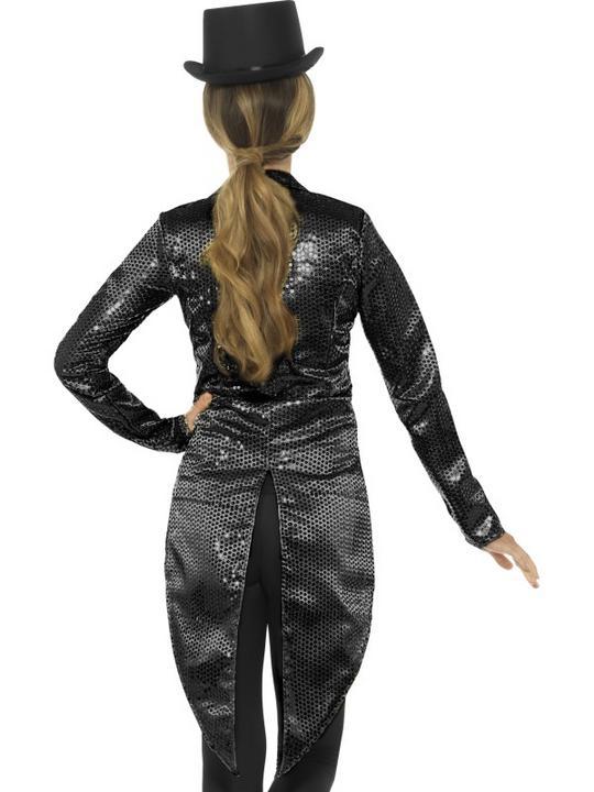 Sequin Tailcoat Jacket Women's Fancy Dress Costume Thumbnail 2