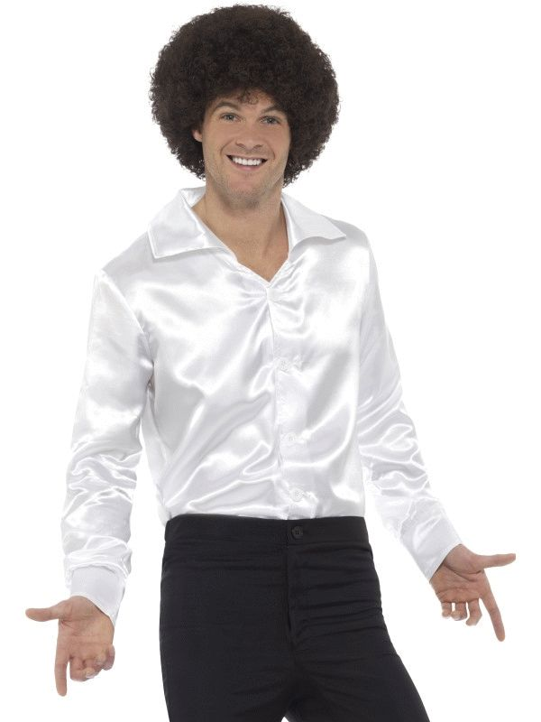 60's Shirt White Fancy Dress Costume