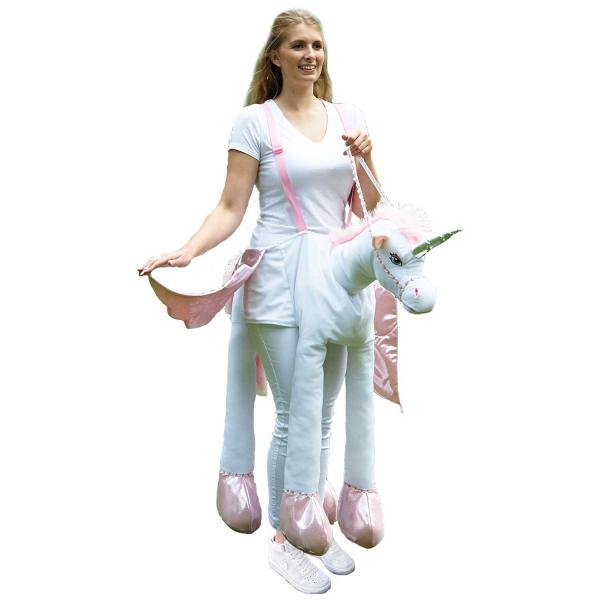 Adult Ride on Unicorn Fancy Dress Costume