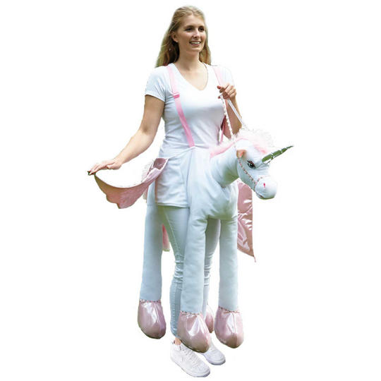 Adult Ride on Unicorn Fancy Dress Costume
