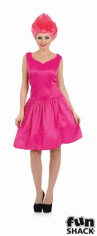 Pink Neon Pixie Women's Fancy Dress Costume