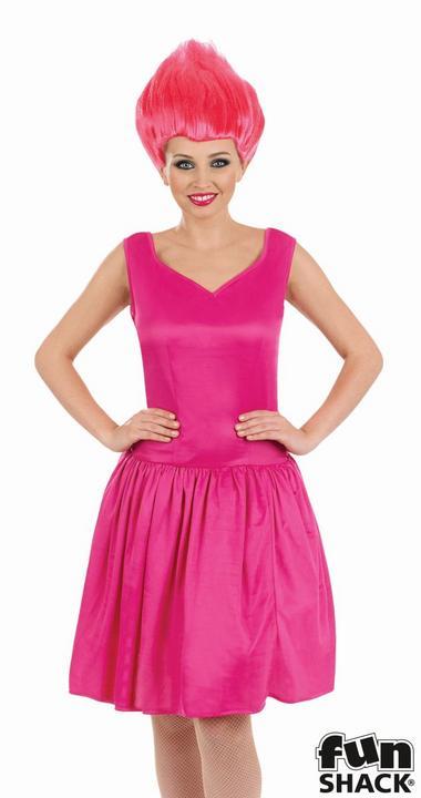 Pink Neon Pixie Women's Fancy Dress Costume Thumbnail 2
