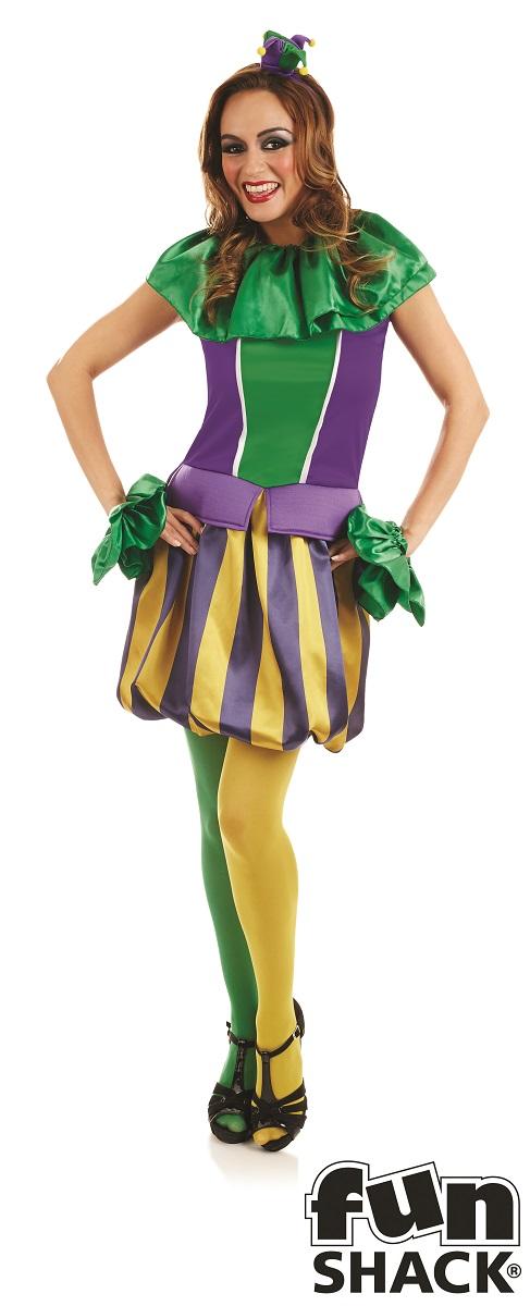 Carnival JesterWomen's Fancy Dress Costume Thumbnail 1