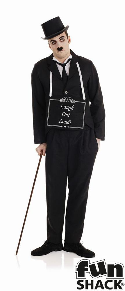 Silent Film Star Men's Fancy Dress Costume