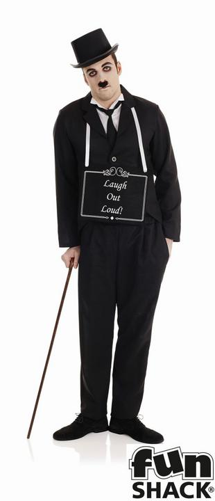 Silent Film Star Men's Fancy Dress Costume Thumbnail 1