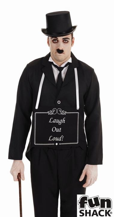 Silent Film Star Men's Fancy Dress Costume Thumbnail 2