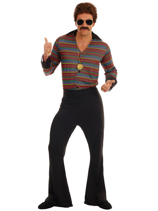 Disco Fever Men's Fancy Dress Costume Thumbnail 1
