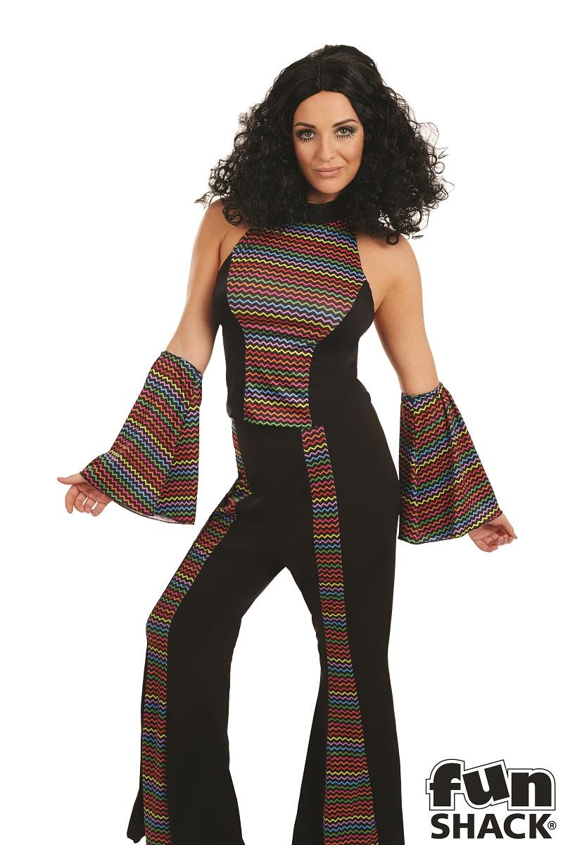 Disco Diva Women's Fancy Dress Costume Thumbnail 1