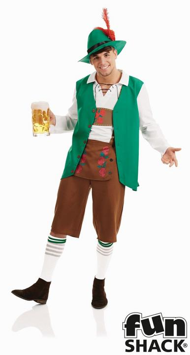 Traditional Bavarian Men's Fancy Dress Costume Thumbnail 1