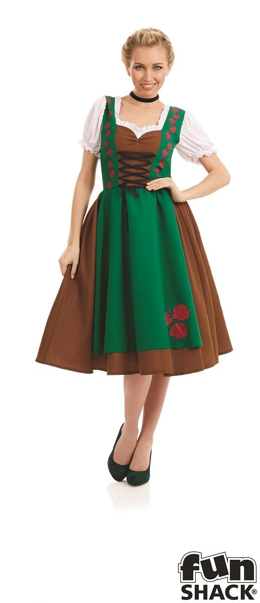 Traditional Bavarian Women's Fancy Dress Costume Thumbnail 1