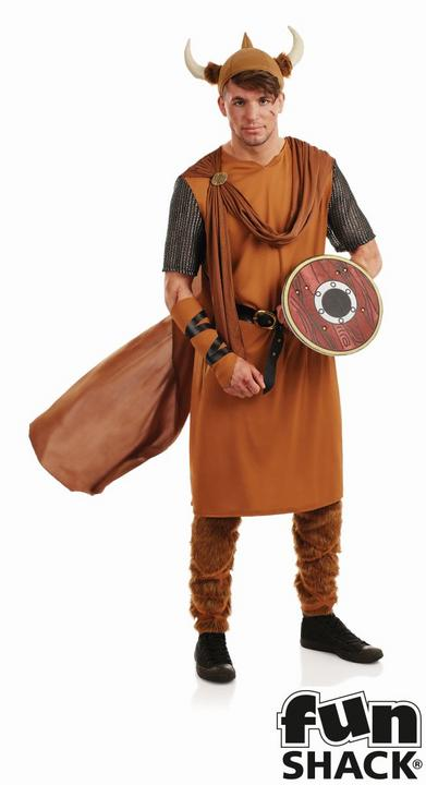 Viking Men's Fancy Dress Costume Thumbnail 1