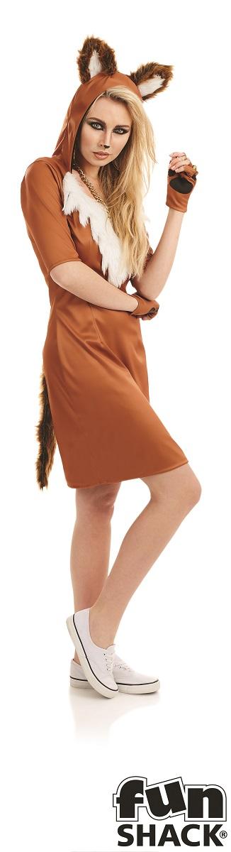 Urban Fox Women's Fancy Dress Costume Thumbnail 1