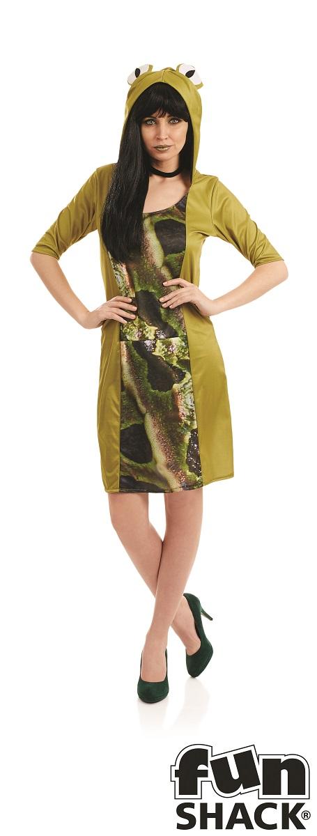 Lady Frog Women's Fancy Dress Costume Thumbnail 1