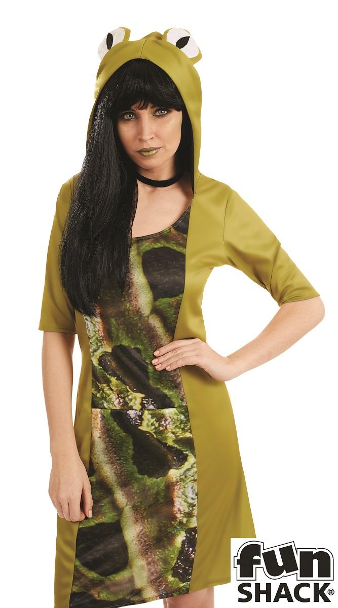Lady Frog Women's Fancy Dress Costume Thumbnail 2