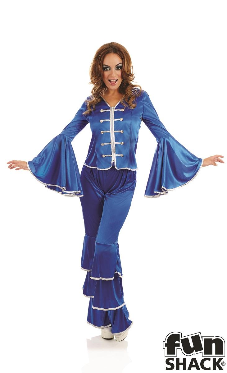 Blue Dancing Queen Women's Fancy Dress Costume