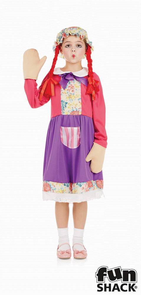 Rag Doll Girl's Fancy Dress Costume