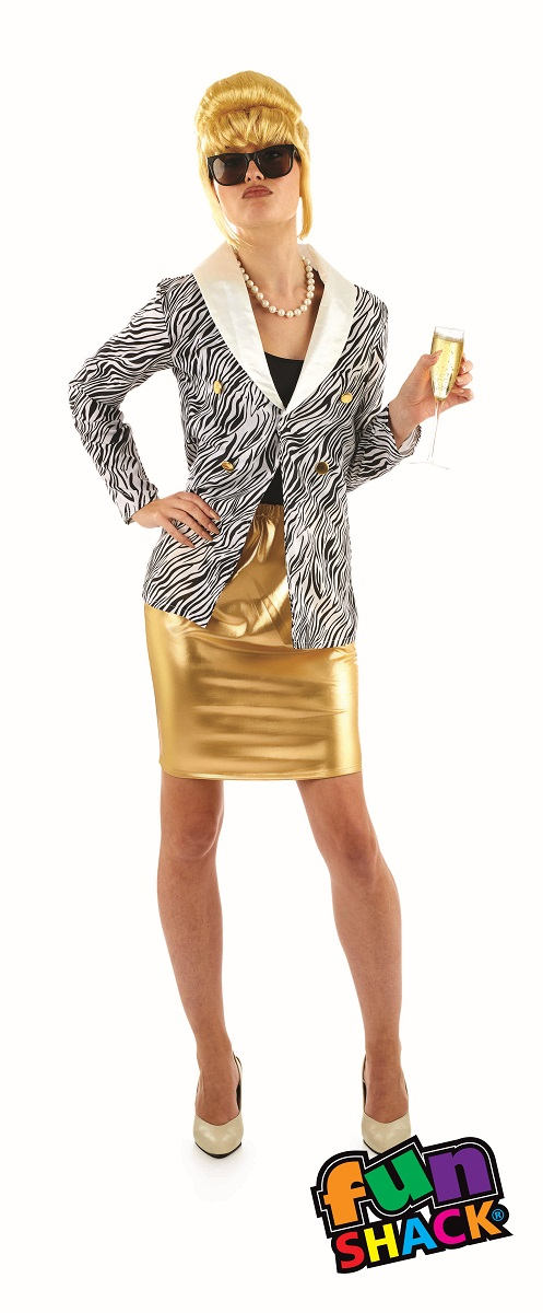 Lady Fabulous Women's Fancy Dress Costume Thumbnail 1