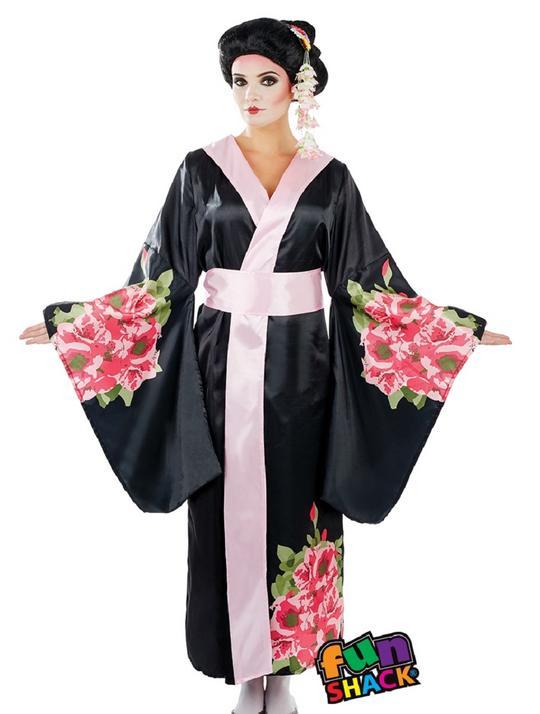 Geisha Women's Fancy Dress Costume Thumbnail 2
