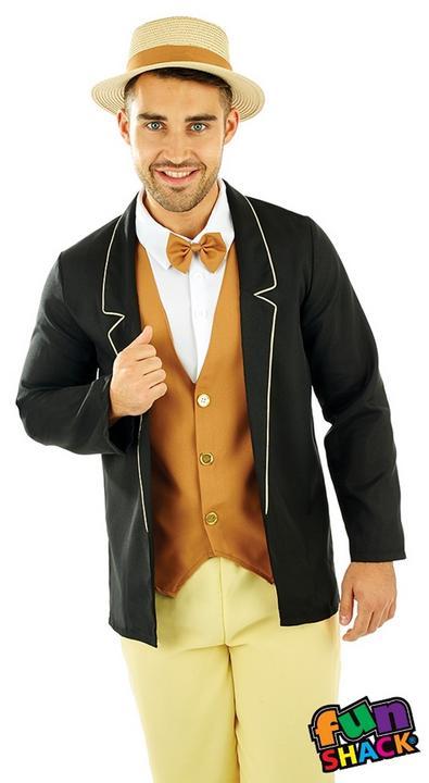 20'S Gentleman Men's Fancy Dress Costume Thumbnail 2