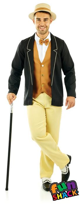 20'S Gentleman Men's Fancy Dress Costume Thumbnail 1