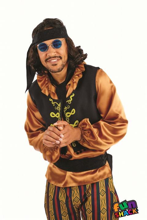 60'S Rock Star Men's Fancy Dress Costume Thumbnail 1