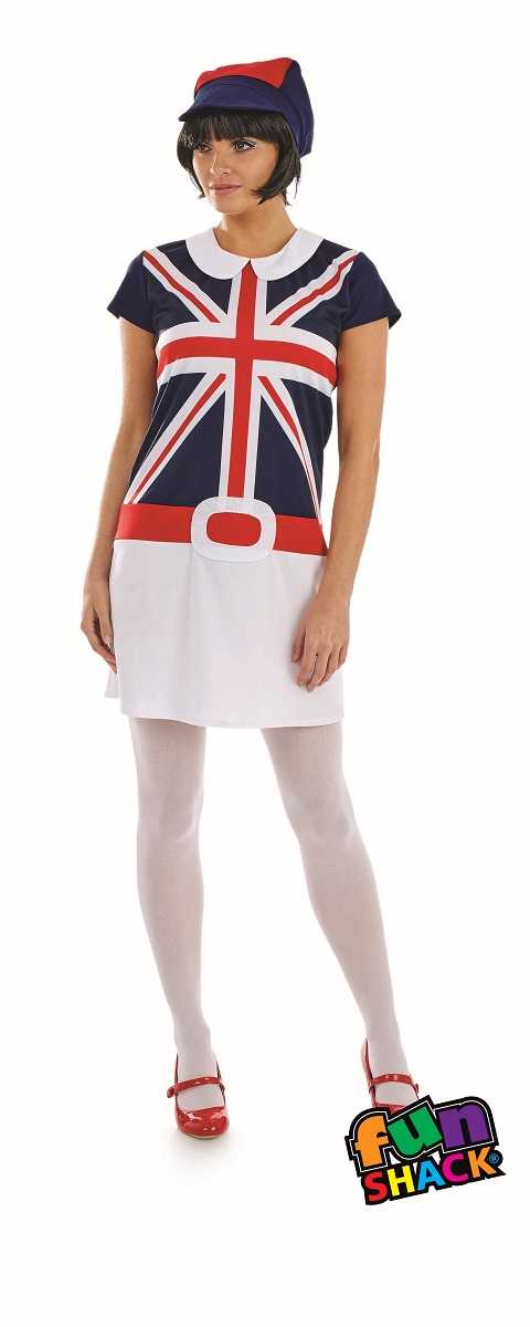 60'S Mod Women's Fancy Dress Costume Thumbnail 1