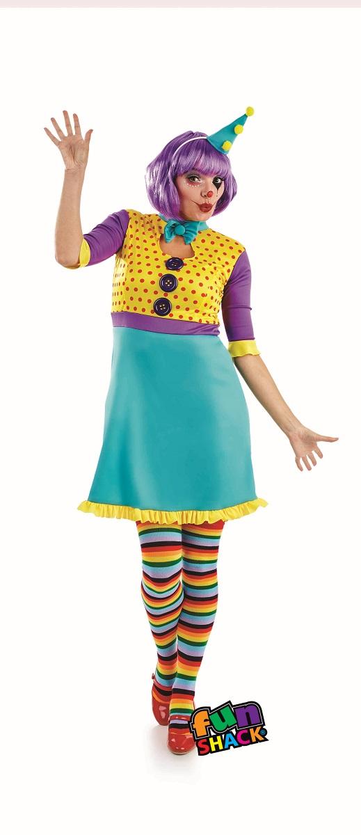 Clown Women's Fancy Dress Costume Thumbnail 2