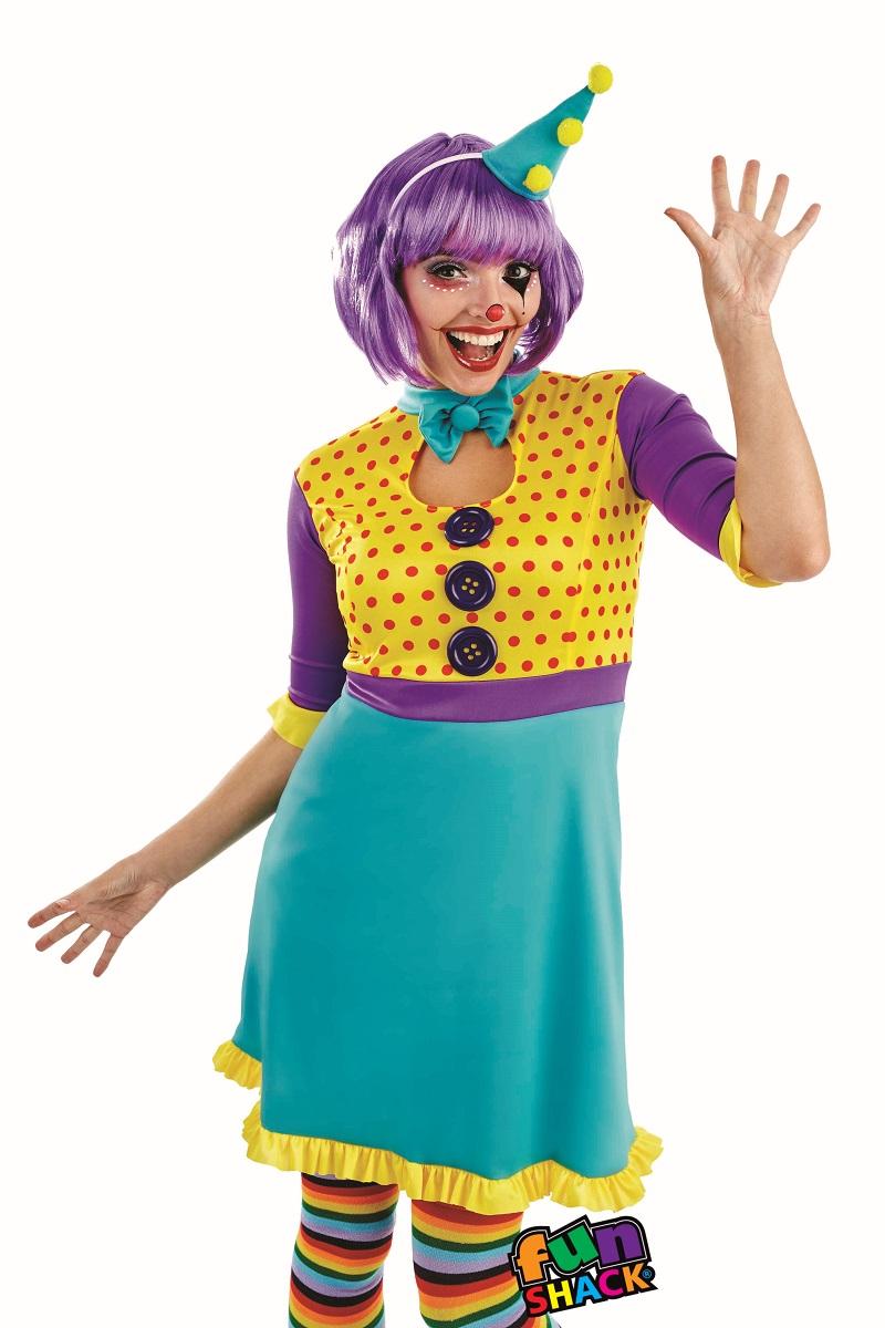 Clown Women's Fancy Dress Costume Thumbnail 3