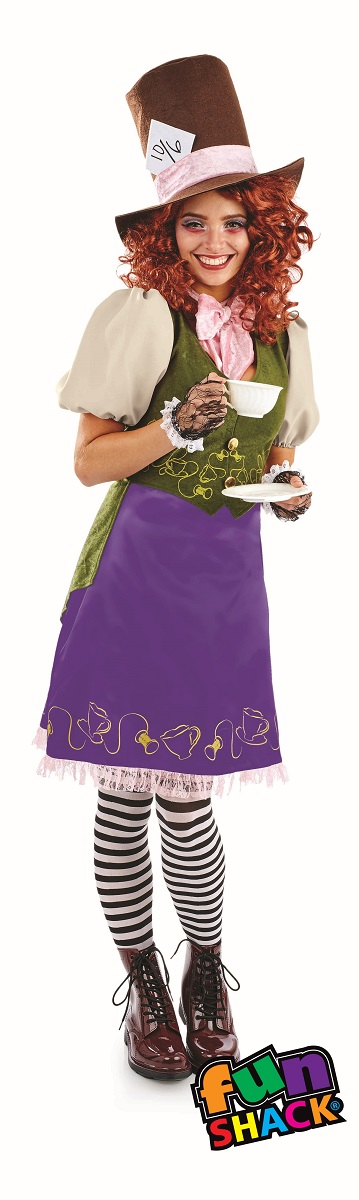 Miss Hatter WOmen's Fancy Dress Costume