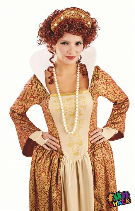 Tudor Queen Women's Fancy Dress Costume Thumbnail 1