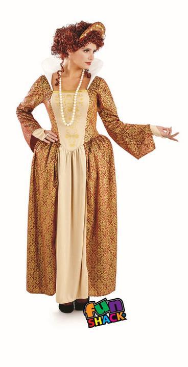 Tudor Queen Women's Fancy Dress Costume Thumbnail 2