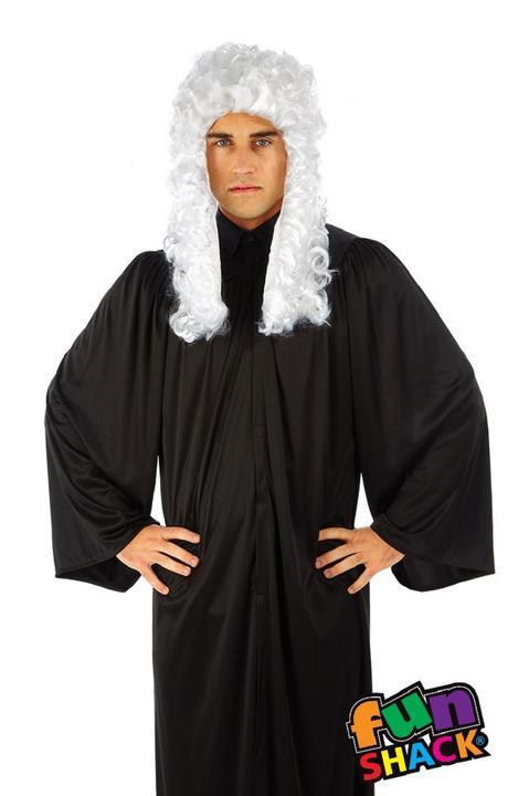 Judge's Robe Men's Fancy Dress Costume Thumbnail 2