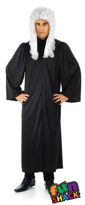 Judge's Robe Men's Fancy Dress Costume Thumbnail 1
