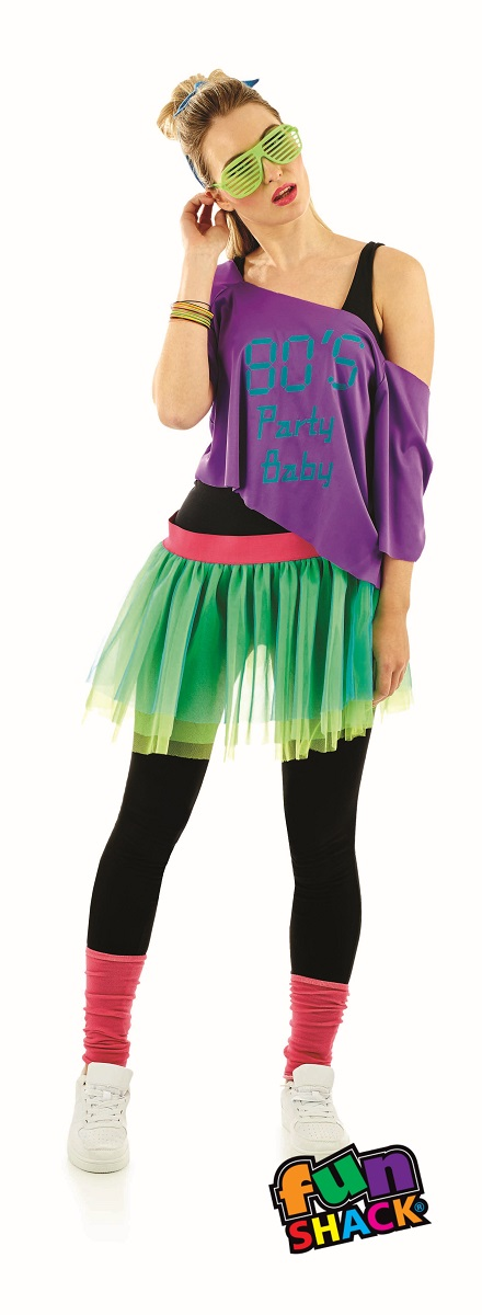 80'S Print Tutu Kit Fanxy Dress Costume
