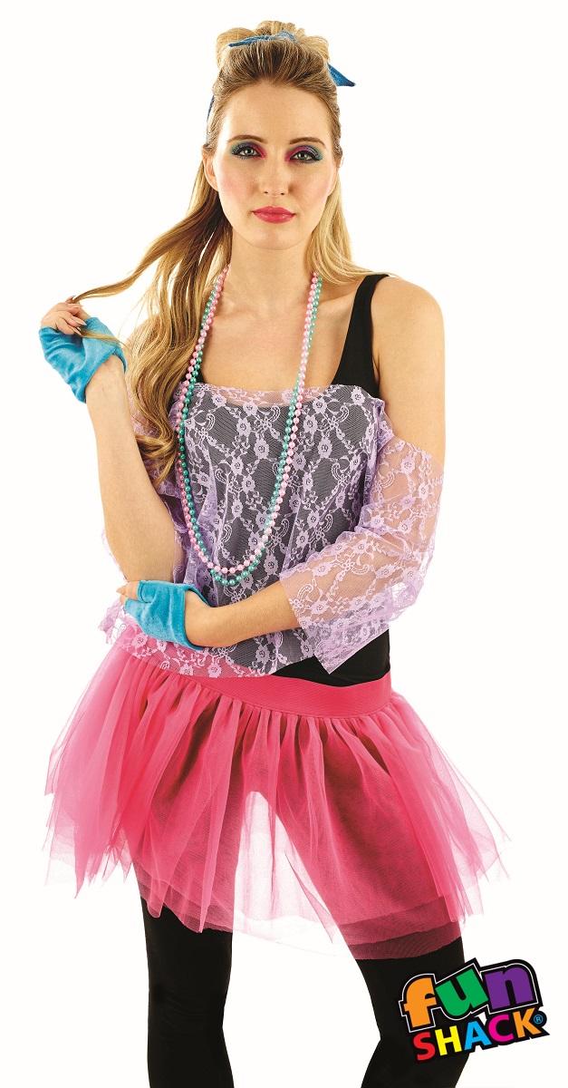 80'S Lace Tutu Kit Women's Fancy Dress Costume