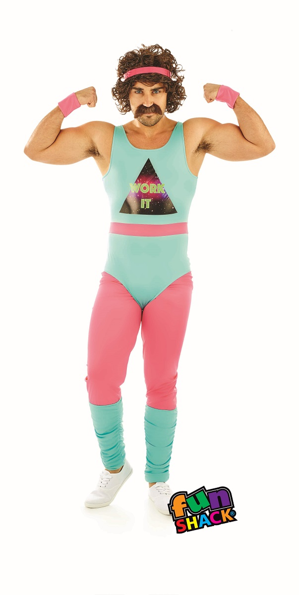 80'S Fitness Instructor Men's fancy Dress Costume