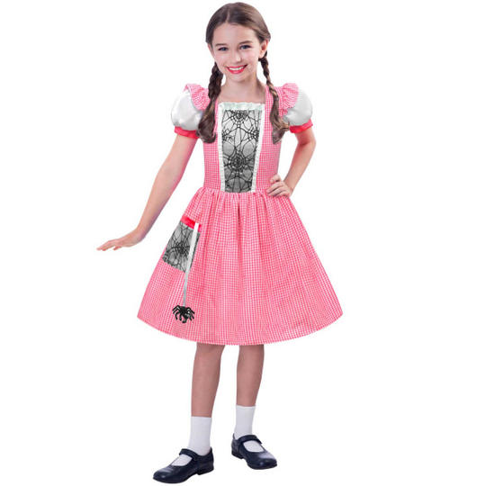 Miss Spider Web Girl's Fancy Dress Costume Thumbnail 1