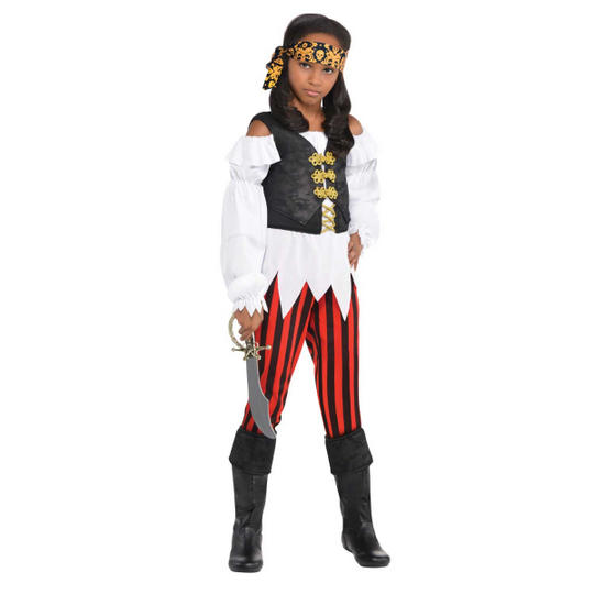 Pretty Scoundrel Girl's Pirate Fancy Dress Costume Thumbnail 1