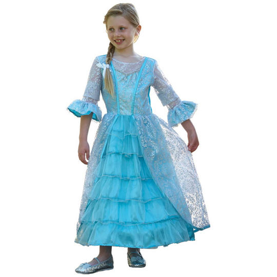 Girl's Princess Azure Mist Fancy Dress Costume Thumbnail 1