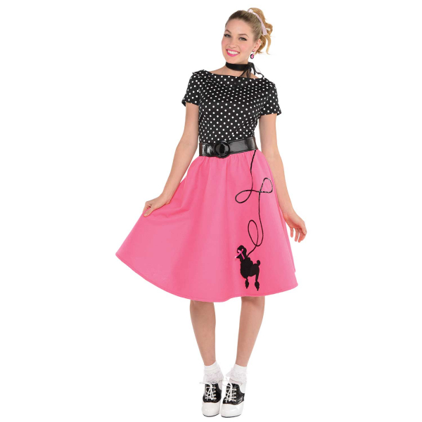 50's Flair Women's Fancy Dress  Costume