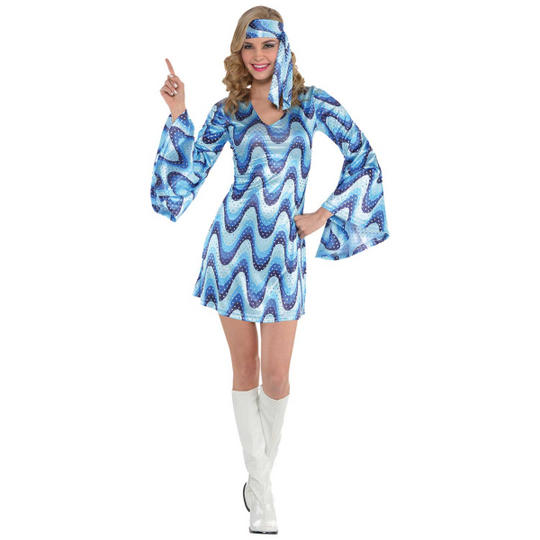 Disco Lady Fancy Dress Costume Thumbnail 1