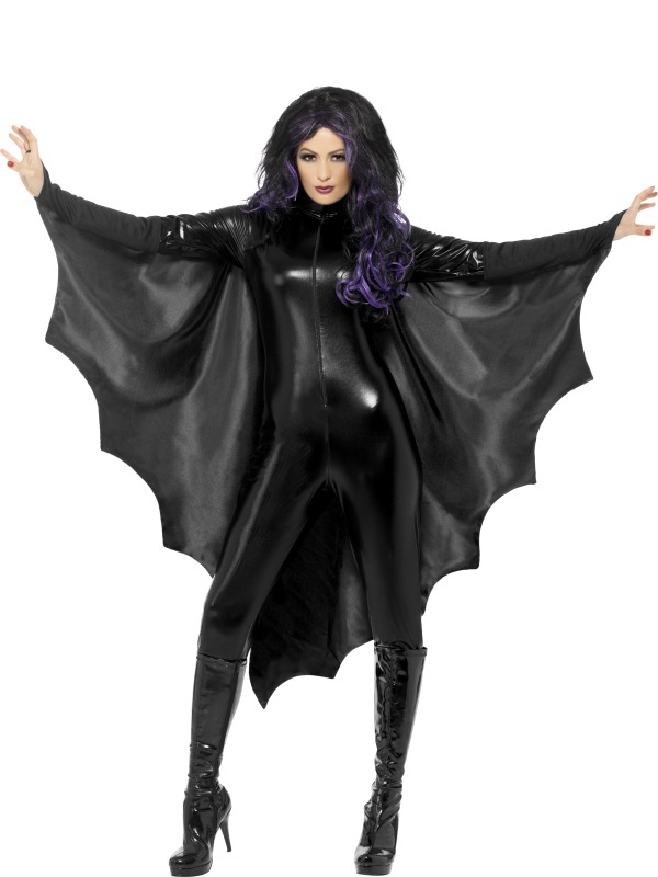 Adult Vampire Bat Wings Halloween Horror Fancy Dress Costume Party Accessory