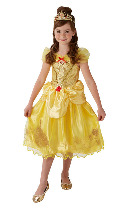 Disney Princess Storyteller Golden Belle Girl's Fancy Dress Costume Thumbnail 1