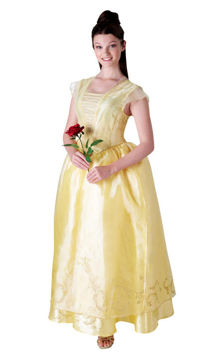 Disney Live Action Belle Women's Fancy Dress Costume Thumbnail 1