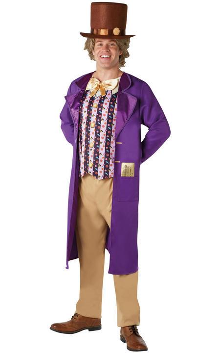 Willy Wonka Men's Fancy Dress Costume Thumbnail 1