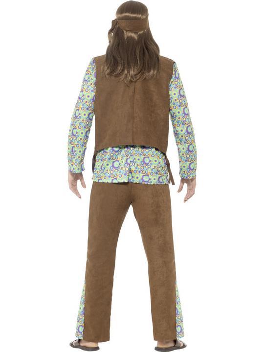 60's Hippie Men's Fancy Dress Costume  Thumbnail 2