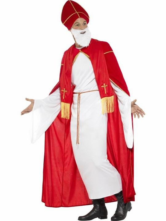 Deluxe Saint Nicholas Men's Fancy Dress Costume Thumbnail 3