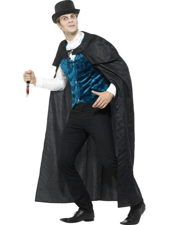 Deluxe Victorian Jack The Ripper Men's Fancy Dress Costume Thumbnail 3
